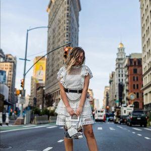 Anine Bing Lace Tier Dress